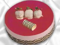 pasta siparisi 4 ile 6 kisilik yas pasta çilekli yaspasta  Ardahan çiçek servisi , çiçekçi adresleri