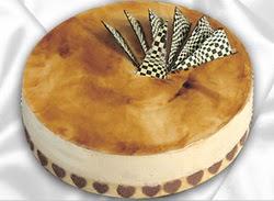 taze pasta 4 ile 6 kisilik yas pasta karamelli yaspasta  Ardahan çiçekçiler