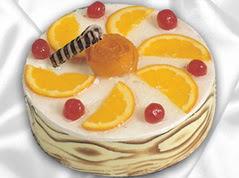 lezzetli pasta satisi 4 ile 6 kisilik yas pasta portakalli pasta  Ardahan çiçekçi mağazası