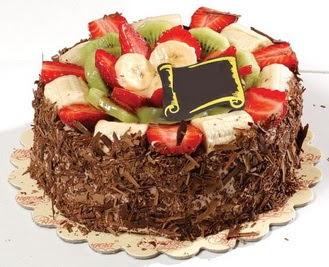 pastaci firmasindan 4 ile 6 kisilik çikolata meyvali yaspasta  Ardahan çiçek siparişi sitesi