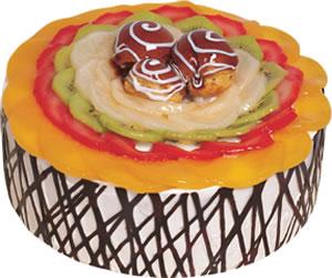 pasta siparisi 4 ile 6 kisilik meyvali yas pasta  Ardahan çiçek satışı