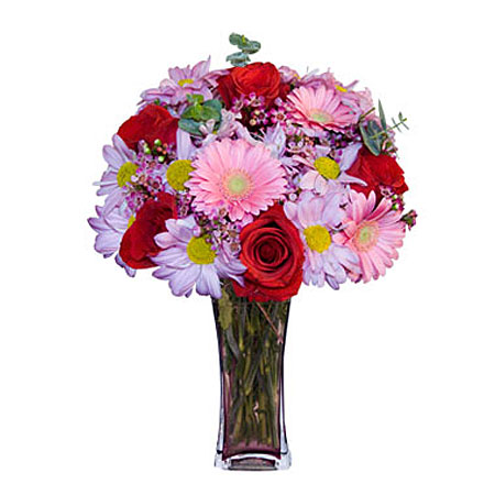 Görsel hediye karisik cam mevsim demeti  Ardahan çiçekçi mağazası