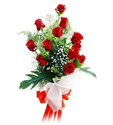 11 adet kirmizi güllerden görsel sölen buket  Ardahan çiçek siparişi vermek