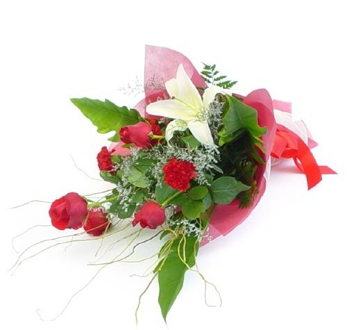Mevsim çiçeklerinden karisik buket  Ardahan cicek , cicekci
