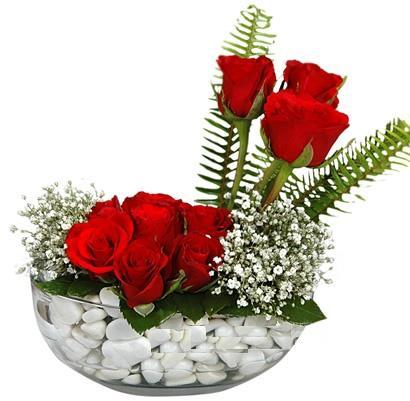 cam içerisinde 9 adet kirmizi gül  Ardahan çiçek siparişi vermek
