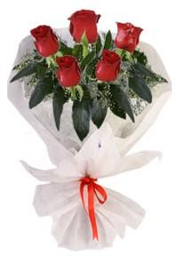 5 adet kirmizi gül buketi  Ardahan çiçekçiler