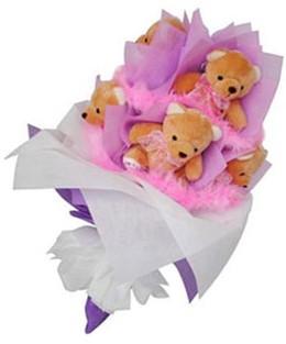 9 adet ayiciktan buket  Ardahan hediye sevgilime hediye çiçek