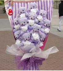11 adet pelus ayicik buketi  Ardahan çiçek gönderme sitemiz güvenlidir