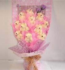 11 adet pelus ayicik buketi  Ardahan çiçek yolla