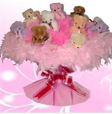 11 adet pelus ayicik buketi  Ardahan çiçek satışı