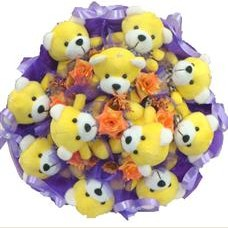 11 adet pelus ayicik buketi  Ardahan çiçek mağazası , çiçekçi adresleri