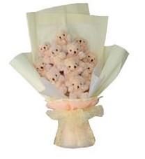 11 adet pelus ayicik buketi  Ardahan ucuz çiçek gönder