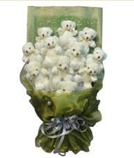 11 adet pelus ayicik buketi  Ardahan online çiçek gönderme sipariş
