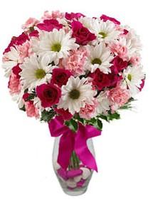Ardahan çiçek siparişi sitesi  Karisik mevsim kir çiçegi vazosu