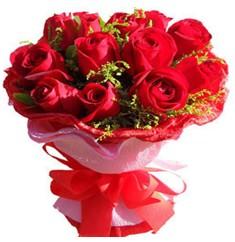 9 adet kirmizi güllerden kipkirmizi buket  Ardahan çiçekçiler