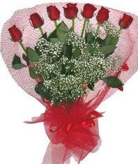 7 adet kipkirmizi gülden görsel buket  Ardahan çiçek mağazası , çiçekçi adresleri