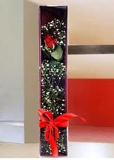 kutu içinde tek kirmizi gül  Ardahan çiçek online çiçek siparişi