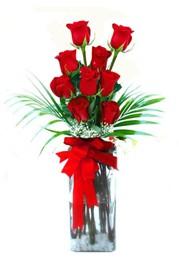 Ardahan çiçekçi telefonları  9 adet mika yada cam vazoda gül tanzimi