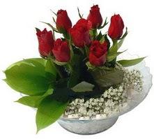 Ardahan internetten çiçek satışı  cam yada mika içerisinde 5 adet kirmizi gül