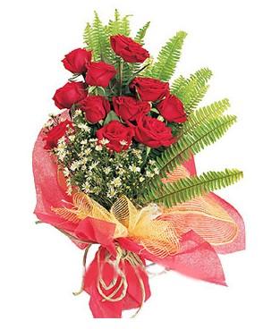 Ardahan İnternetten çiçek siparişi  11 adet kırmızı güllerden buket modeli