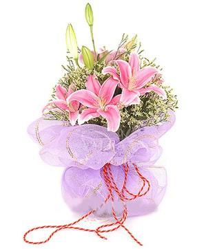 3 dal kazablanka görsel buketi  Ardahan internetten çiçek satışı
