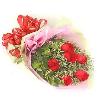 Ardahan çiçek , çiçekçi , çiçekçilik  6 adet kırmızı gülden buket
