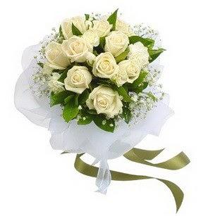 Ardahan online çiçekçi , çiçek siparişi  11 adet benbeyaz güllerden buket