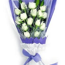 Ardahan çiçekçi mağazası  11 adet beyaz gül buket modeli