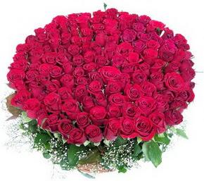 Ardahan online çiçekçi , çiçek siparişi  100 adet kırmızı gülden görsel buket