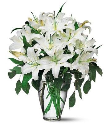 Ardahan internetten çiçek satışı  4 dal kazablanka ile görsel vazo tanzimi