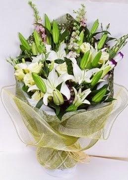 Ardahan çiçek servisi , çiçekçi adresleri  3 adet kazablankalardan görsel buket çiçeği