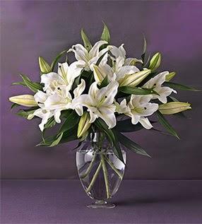 Ardahan İnternetten çiçek siparişi  4 dal cazablanca vazo çiçeği