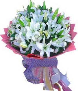 7 dal cazablanca görsel buketi  Ardahan çiçekçi mağazası