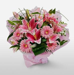 1 dal kazablanka ve kır çiçek görsel buketi  Ardahan internetten çiçek satışı