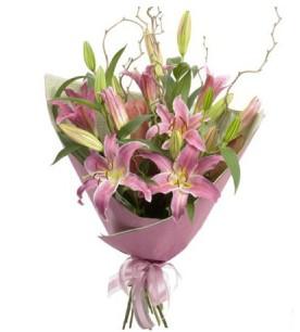 Ardahan İnternetten çiçek siparişi  3 dal cazablanca buket çiçeği