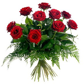 Ardahan çiçek gönderme  10 adet kırmızı gülden buket