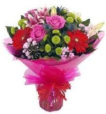 Karışık mevsim çiçekleri demeti  Ardahan online çiçek gönderme sipariş