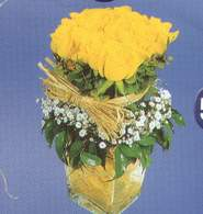 Ardahan anneler günü çiçek yolla  Cam vazoda 9 Sari gül
