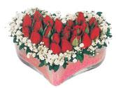 Ardahan çiçekçi telefonları  mika kalpte kirmizi güller 9