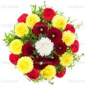 Ardahan çiçekçi mağazası  13 adet mevsim çiçeğinden görsel buket
