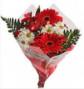 Mevsim çiçeklerinden görsel buket  Ardahan çiçekçiler