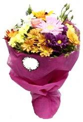 1 demet karışık görsel buket  Ardahan anneler günü çiçek yolla