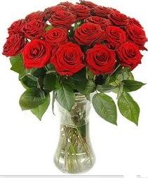 Ardahan çiçek mağazası , çiçekçi adresleri  Vazoda 15 adet kırmızı gül tanzimi