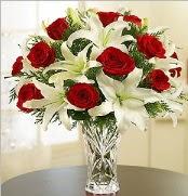 12 adet kırmızı gül 2 dal kazablanka vazosu  Ardahan çiçek satışı