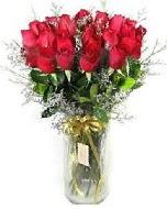 27 adet vazo içerisinde kırmızı gül  Ardahan İnternetten çiçek siparişi