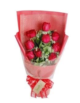 9 adet kırmızı gülden görsel buket  Ardahan ucuz çiçek gönder