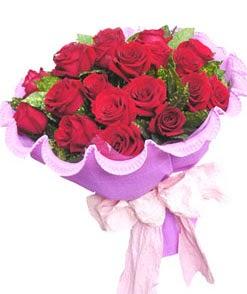 12 adet kırmızı gülden görsel buket  Ardahan çiçekçi mağazası