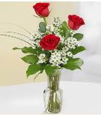 Vazo içerisinde 3 adet kırmızı gül  Ardahan çiçek satışı