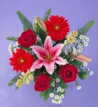 Ardahan ucuz çiçek gönder  Gerbera gül ve lilyum buketi