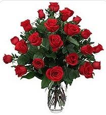 Ardahan çiçek siparişi sitesi  24 adet kırmızı gülden vazo tanzimi